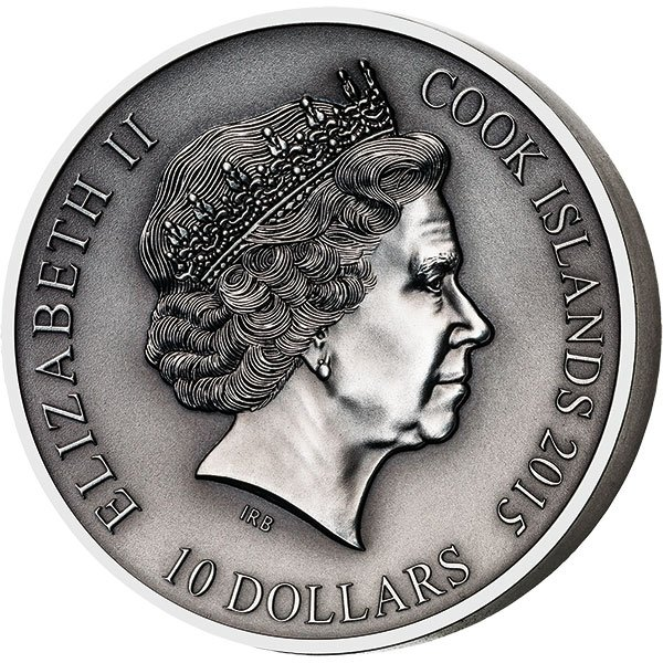 Cook Islands 2016 10$ The Norse Gods - Heimdall 2oz Antique finish Silver Coin
