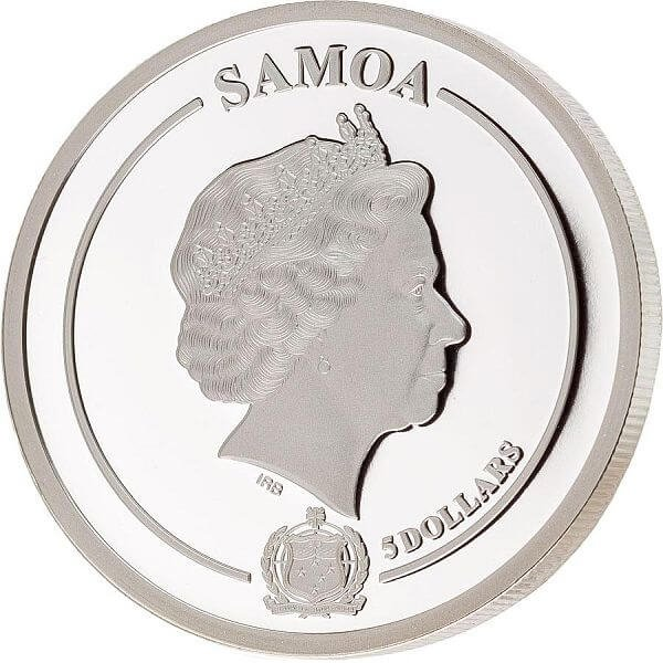 Orchid Golden Flower Collection 1oz Proof Silver Coin 5$ Samoa 2021