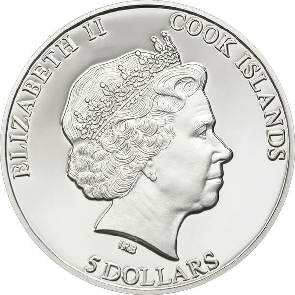 The Muonionalusta Meteorite Proof Silver Coin 5$ Cook Islands 2011