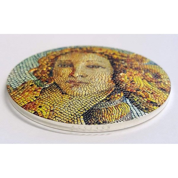 Birth of Venus Great Micromosaic Passion 3 oz Proof Silver Coin 20$ Palau 2017