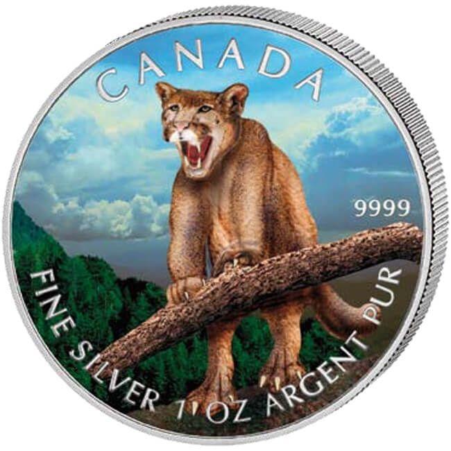 Canada 2012 5$ Cougar Wildlife Series UNC Silver Coin
