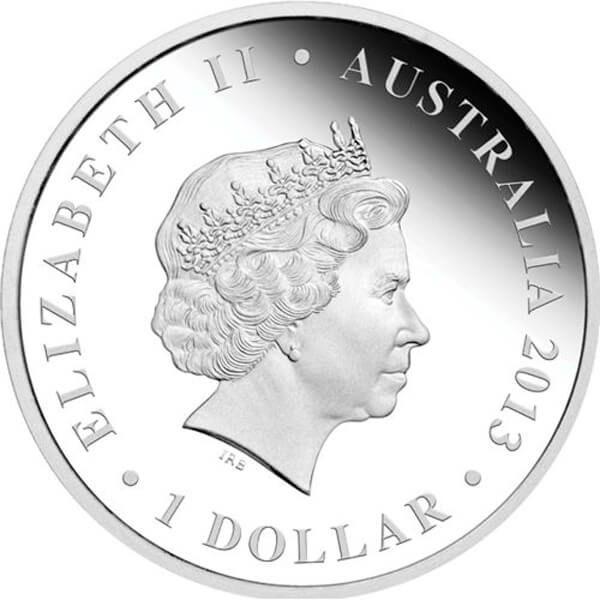 Captain James Cook  The Land Down Under  1 oz Proof Silver Coin 1$ Australia 2013