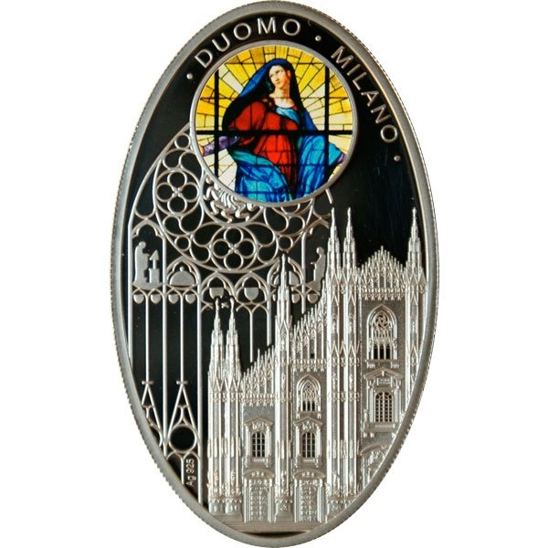 Duomo Milano Gothic cathedrals Proof Silver Coin 1$ Niue 2010