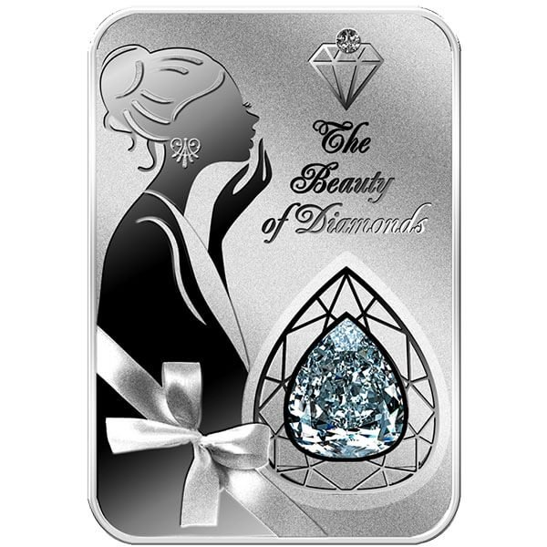 Millenium Star The Beauty of Diamonds 1oz Proof Silver Coin 2$ Niue 2016