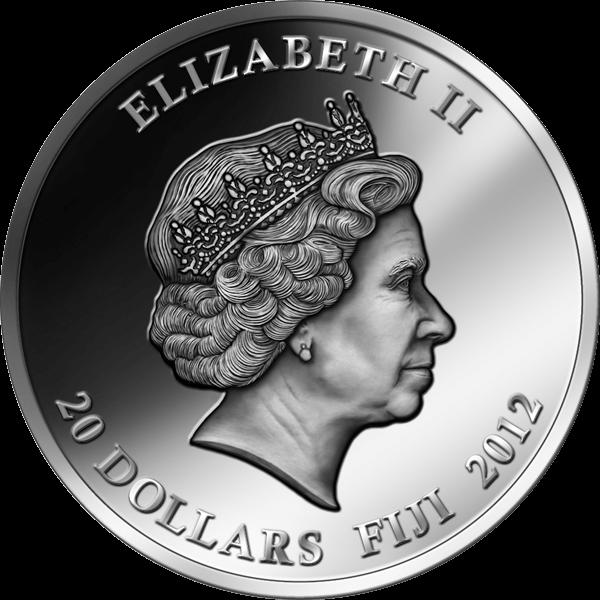 Fiji 2012 20$ Exotic Endangered Wildlife - Paradisebird 2 oz Antique finish Silver Coin