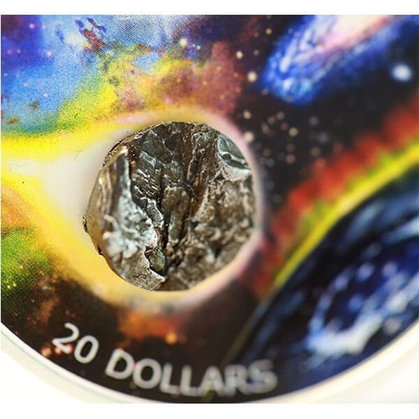Royal Astronomical Society Canada 31.39 g Meteorite Insert Proof Silver Coin 20$ Canada 2018