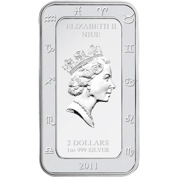 Niue 2011 2$ The Capricorn Zodiac Series art by Kagaya Proof Silver Coin