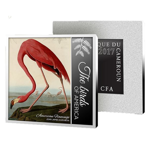 The Birds of America American Flamingo Proof Silver Coin 500 Francs Cameroon 2017