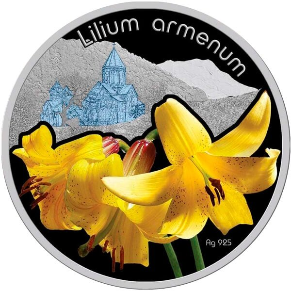 Lilium Armenum Lilium Proof Silver Coin 1$ Niue 2012