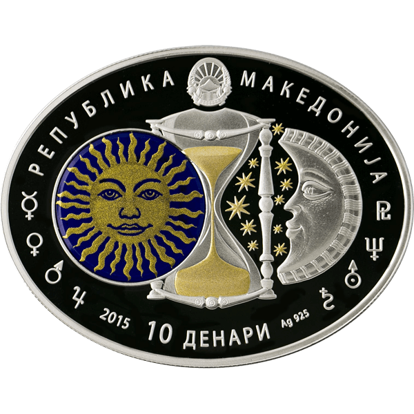 Macedonia 2014 10 Denars Pisces Signs of the Zodiac Proof Silver Coin