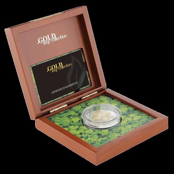 Samoa 2016 5$ Oak Leaf 3D Gold Leaves 1 oz Proof Silver Coin