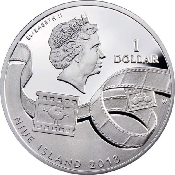 Tweety Cartoon Characters Proof Silver Coin 1$ Niue 2013