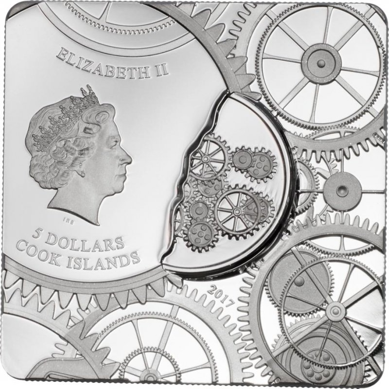 Cook Islands 2017 5$ Time Capsule Coin 1 oz Proof-like Silver Coin