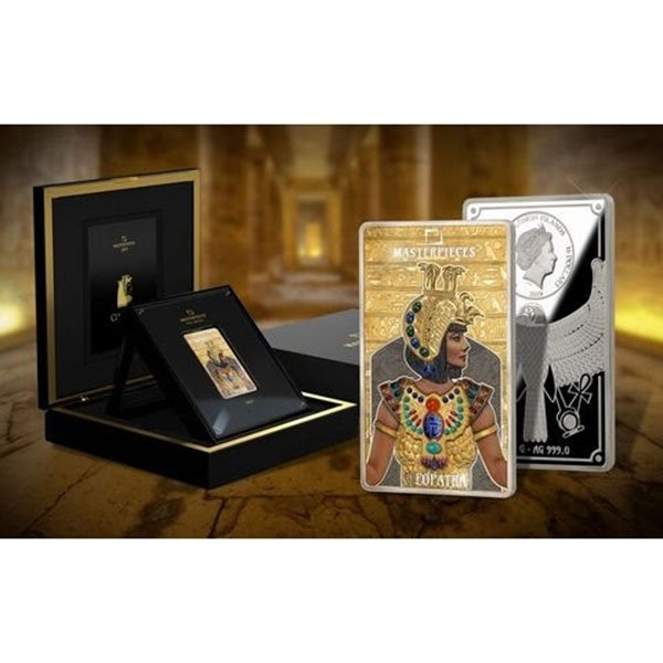 Cleopatra Masterpieces 12g Gold & 200g Silver Proof Coin 50$ & 16$ Solomon Islands 2019