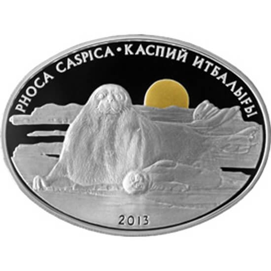 Kazakhstan 2013 500 tenge Phoca caspica Proof Silver Coin