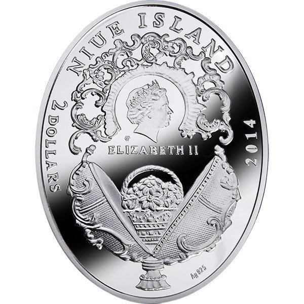 Niue 2014 2$ TRANS-SIBERIAN RAILWAY EGG Faberge Eggs Proof Silver Coin