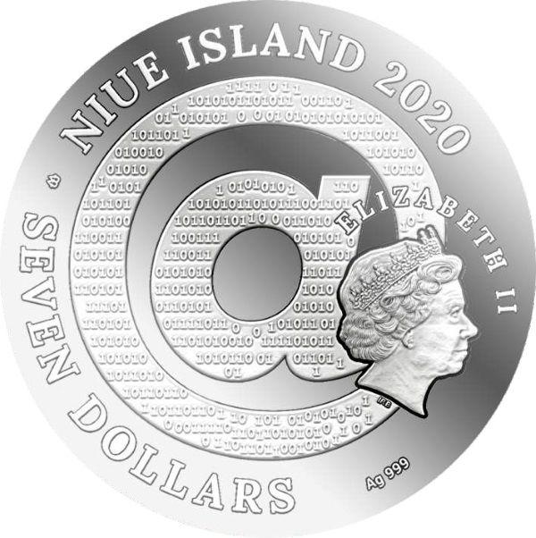 Gustav Klimt Golden Tears Matrix Art 3 oz Proof Silver Coin 7$ Niue 2020