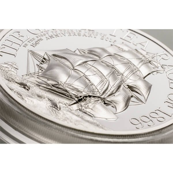 Cook Islands 2016 10$ The Great Tea Race 2oz Proof Silver Coin