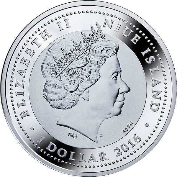 Niue 2016 1$ Tree of Luck 1 oz Proof Silver Coin