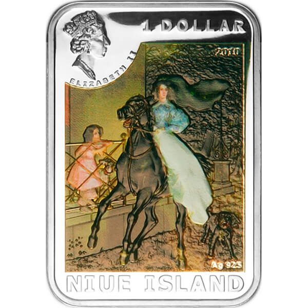 Karl Brullov World of painting Proof Silver Coin 1$ Niue 2010