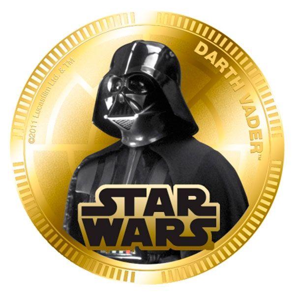 Niue 2011 1$ Star Wars Base Metal Set Darth Vader case