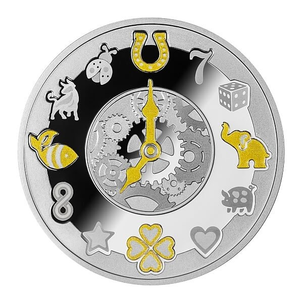 Lucky Hours Proof Silver Coin 500 Francs Cameroon 2020