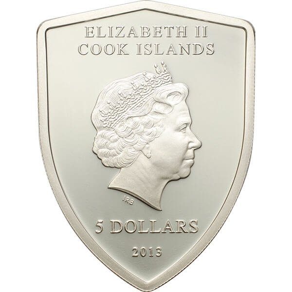 Ferrari Proof Silver Coin 5$  Cook Islands 2013