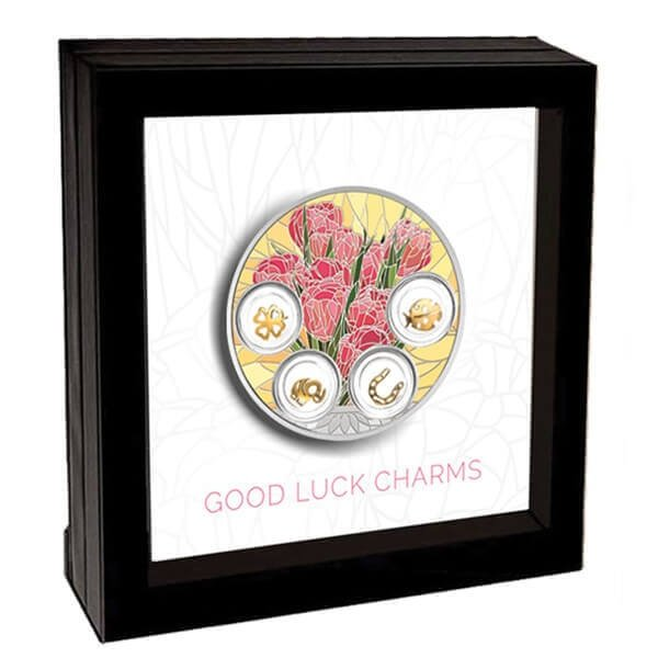 Good Luck Charms 77.75 g Proof Silver Coin 5$ Niue 2019