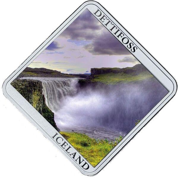 Niue 2015 1$ Dettifoss Falls Waterfall 1/2 oz Proof Silver Coin