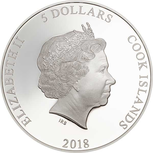 Tree Frog Magnificent Life 1 oz Proof Silver Coin 5$ Cook Islands 2018