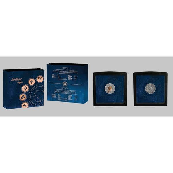 Scorpio Zodiac Signs 1oz Antique finish Silver Coin 1$ Niue 2019