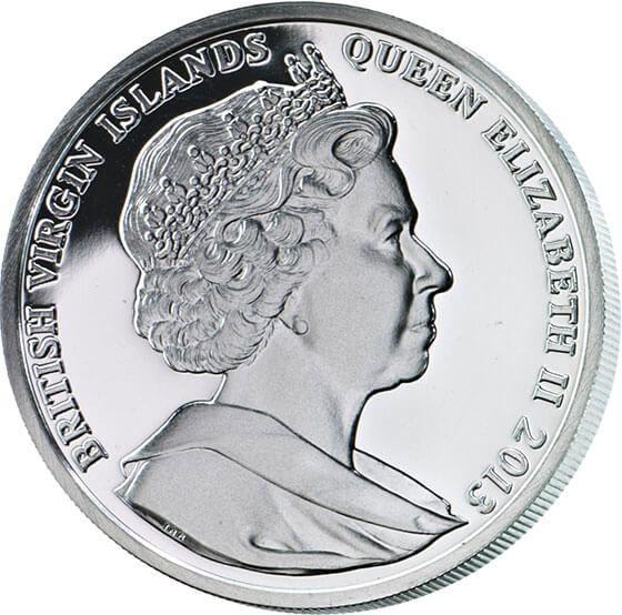 British Virgin Islands 2013 10$ Ascalon Legendary Weapons Proof Silver Coin