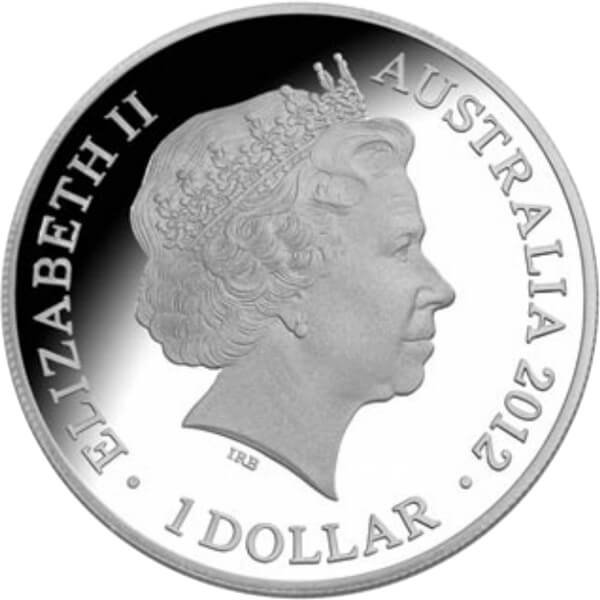 Australia 2012 1$ Kangaroo in Outback 1 oz F15 Privy Proof Silver Coin