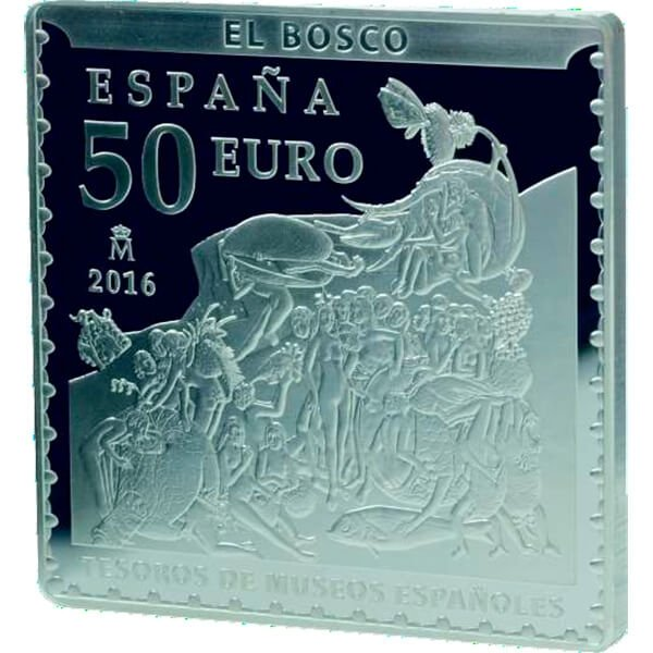 Spain 2016 25x50x25 euro 500th Anniversary of Hieronymus Bosch's Death - The Garden of Earthly Delights 270 g Proof/BU Silver Set