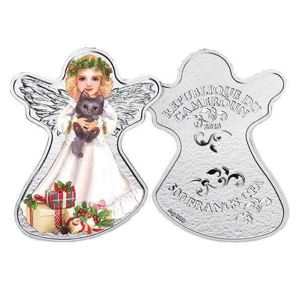 Christmas Angel Proof Silver Coin 500 Francs Cameroon 2018