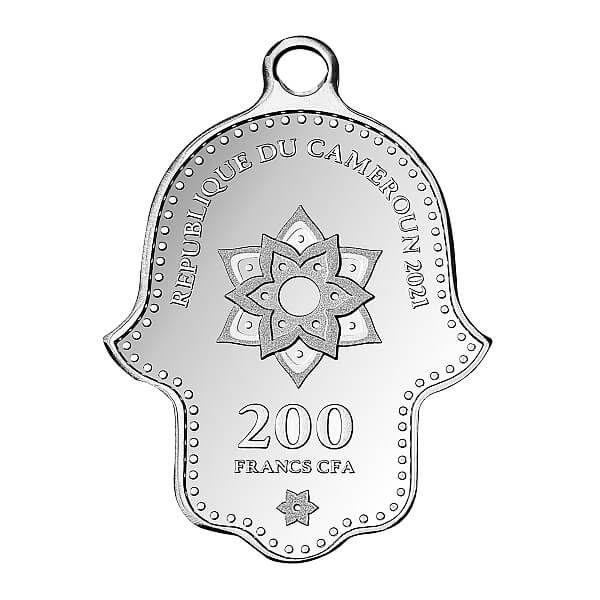 Hamsa Hand Of Fatima Proof Silver Coin 200 Francs Cameroon 2020