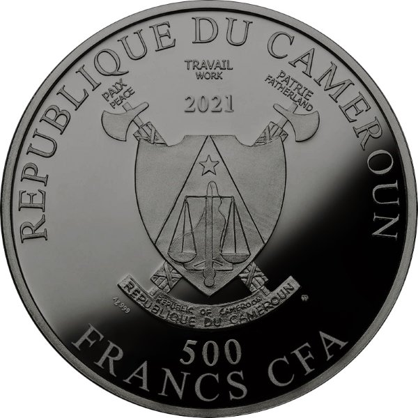 Year of the Ox Proof Silver Coin 500 Francs Cameroon 2021