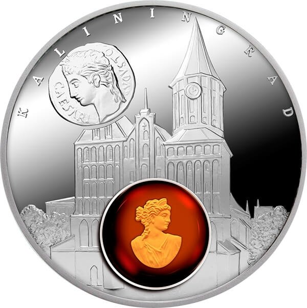 Kaliningrad Amber Road 2016  Proof Silver Coin 1$ Niue 2016