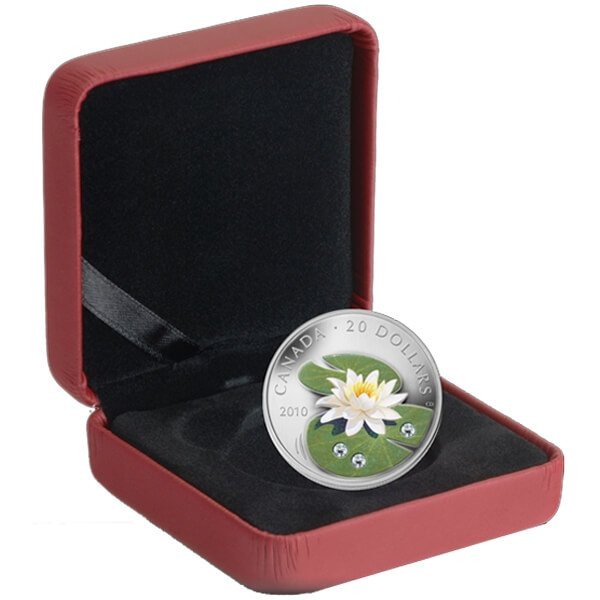 Canada 2010 20$ Water Lily (2010) Proof Silver Coin