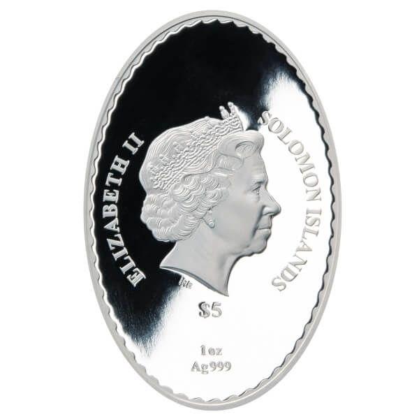 Snow Maiden Matryoshka Doll 1 oz Proof Silver Coin 5$ Solomon Islands 2021