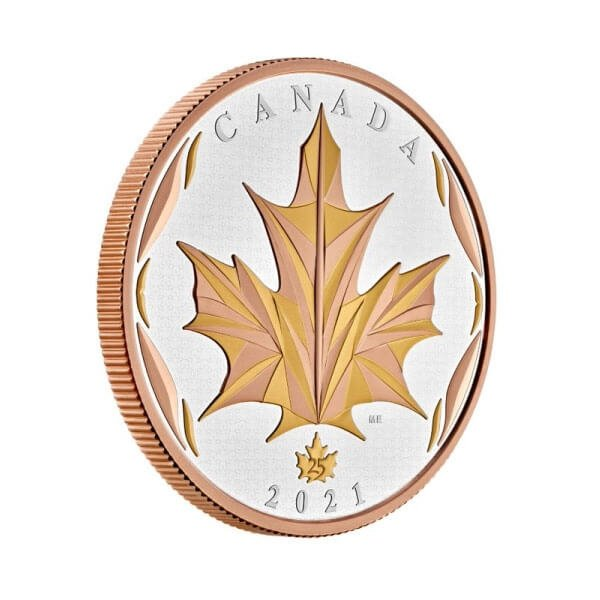 Maple Leaf 5 oz Proof Silver Coin 50$ Canada 2021