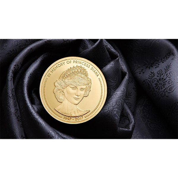 In Memory of Princess Diana 1/100 oz Proof-like Gold Coin Cook Islands 5$ 2017