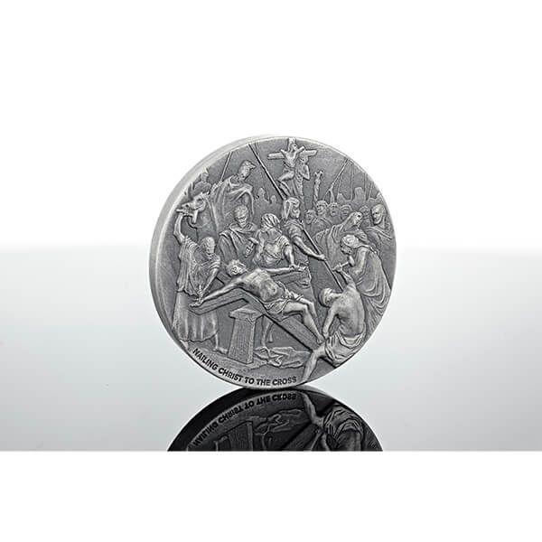 Niue 2017 2$ Biblical Coin Nailing Christ to the Cross BU Silver Coin