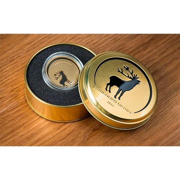 Mongolia 2017 500 togrog Mongolian Nature 2017 Roaring Deer 1/2 oz BU Silver Coin