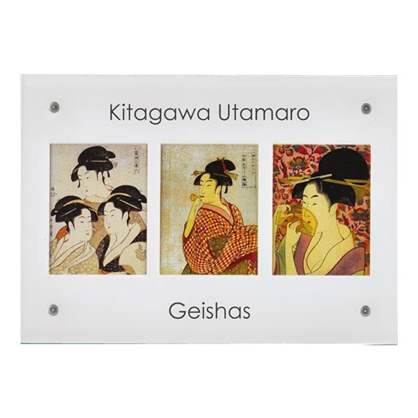 Niue 2015 3x10$ Kitagawa Utamaro's - The Geishas Edgeless Colorprint Silver Set