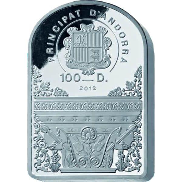 Andorra 2013 100 diners The Virgin Of The Rocks by Leonardo da Vinci. 1 Kilo Proof Silver Coin
