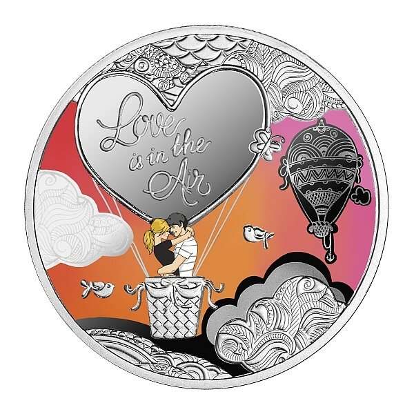 Love is in the Air Proof Silver Coin 500 Francs Cameroon 2021