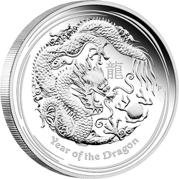 Australia 2012 8$ Year of the Dragon 2012 5oz Proof Silver Coin
