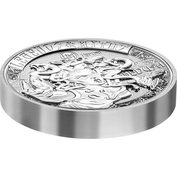 Medusa Legends and Myths II 2oz Reverse Proof Silver Coin 5$ Solomon Islands 2018