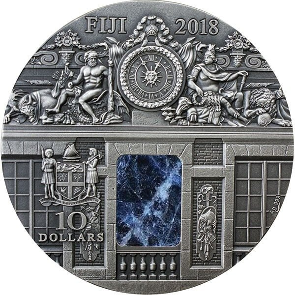 War Room Masterpieces in Stone 3 oz Antique finish Silver Coin 10$ Fiji 2018